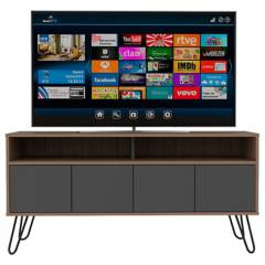 RTA MUEBLES - Rack Tv Vassel Miel + Plomo