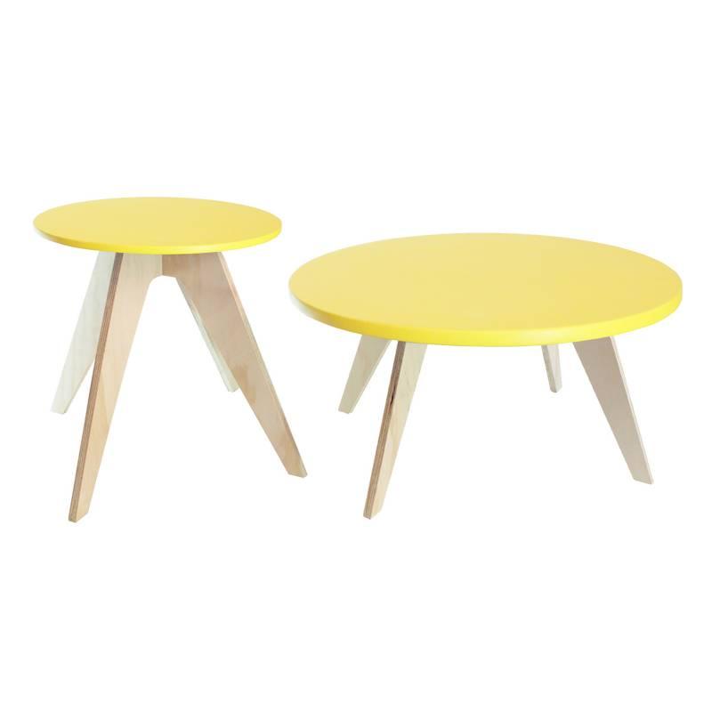 DKO Design - Set De Mesas Neusa Amarilla