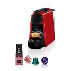 Nespresso - Cafetera con Cápsula Nespresso Essenza Mini Roja