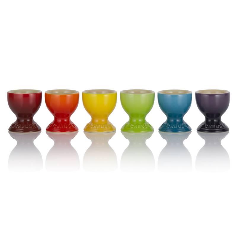 Le Creuset - Set x6 Tazas Para Huevos Arco Iris