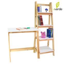 DKO Design - Set de Escritorio y Biblioteca Pino Canada