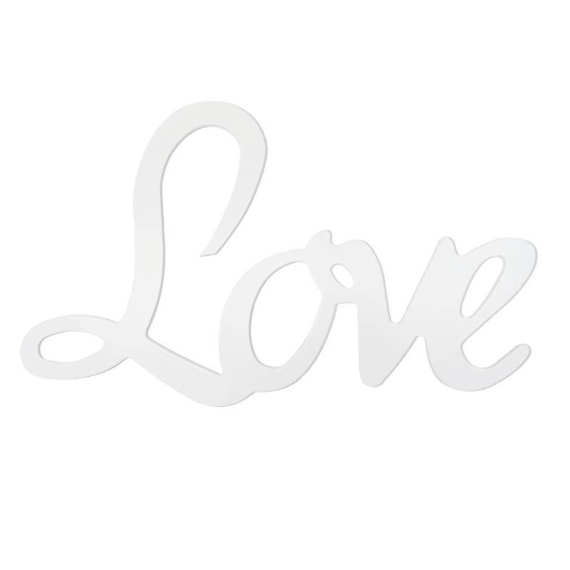 Dimi Home - Aplique Love Pared Blanco 5 mm