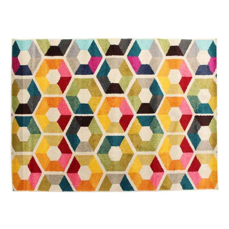 LAV - Tapete Decora Hexágonos Multicolor 240 x 340