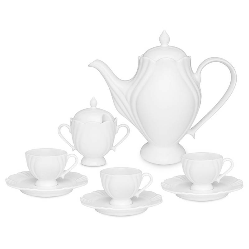 OXFORD - Juego de Café 14 Pzs Porcelana