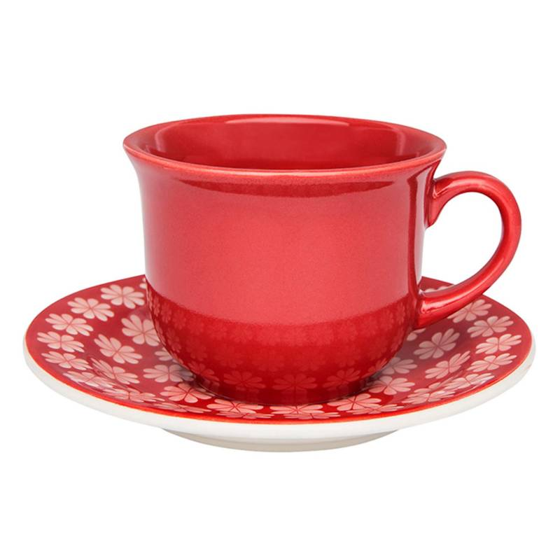 OXFORD - Taza Té 200 ml Y Plato Renda