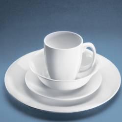 Corelle - Juego de Vajilla 16 Pzs Blanco + 4 Platos Pasta