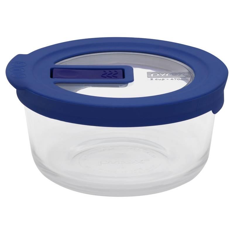 Pyrex - Bowl 2 Cup - 470 ml / Tapa Azul