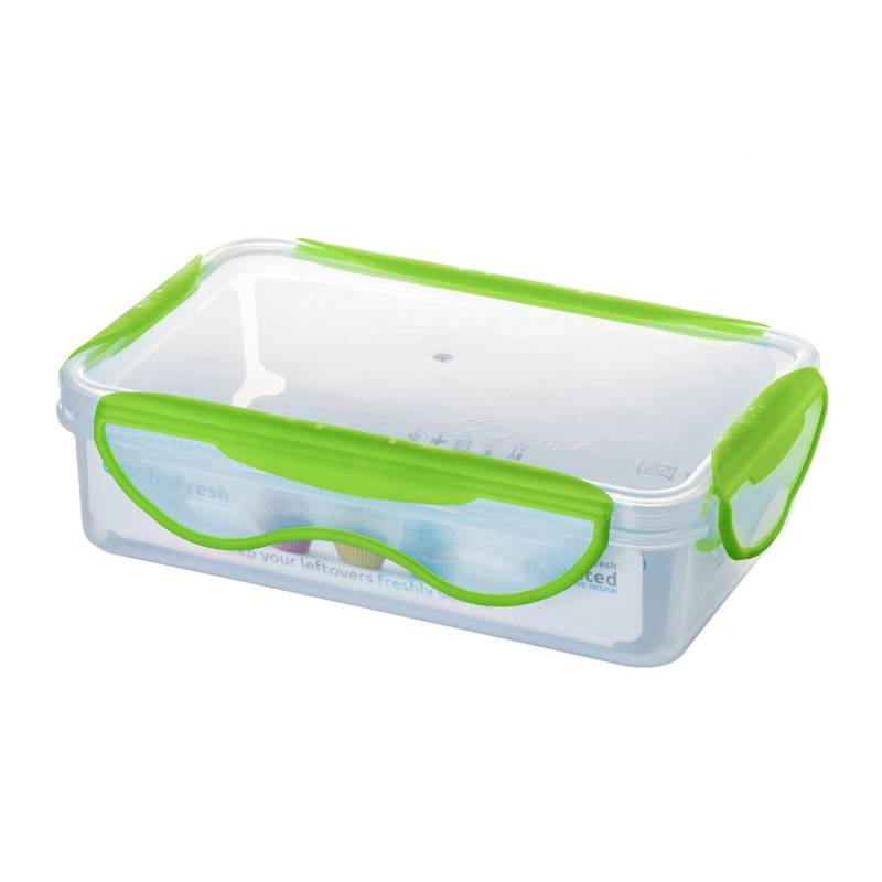 Clip Fresh - Contenedor Rectangular 900 ml Verde