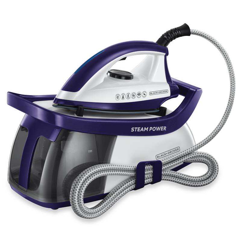 Black&Decker - Plancha a Vapor Black & Decker Steam Power Morada
