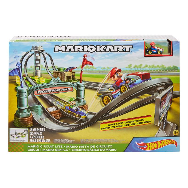 Hot wheels - Mario Kart Pista de Circuito