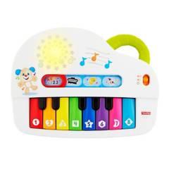 Fisher Price - Juguete de bebé Fisher Price Ríe y Aprende Perrito Piano Sonidos Divertidos