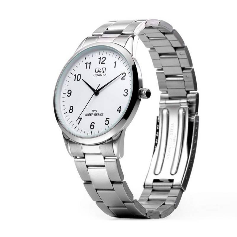 Q&Q - Reloj Análogo Plateado Inoxidable