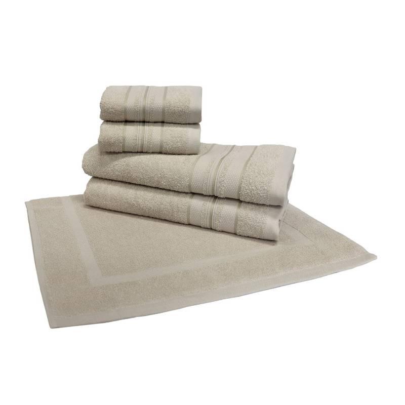 Basement Home - Set x5 Toallas Bali Crema
