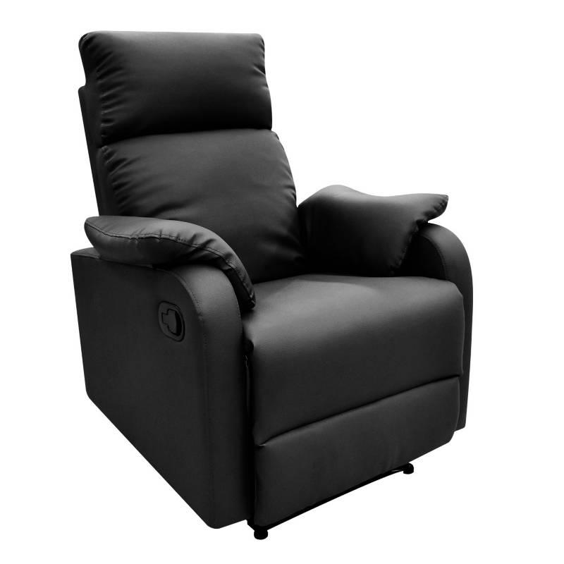 Relax Home - Silla Reclinable 1 Puesto Cuero Sintético Velvet