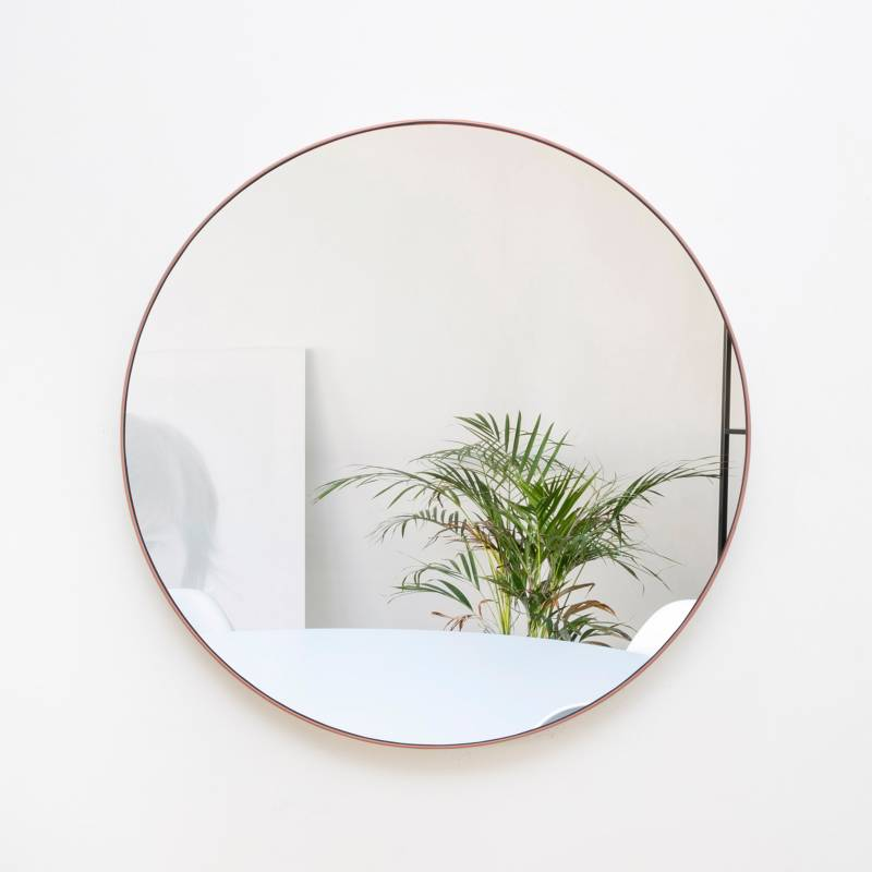 Sándalo - Espejo Redondo Platina 65 cm