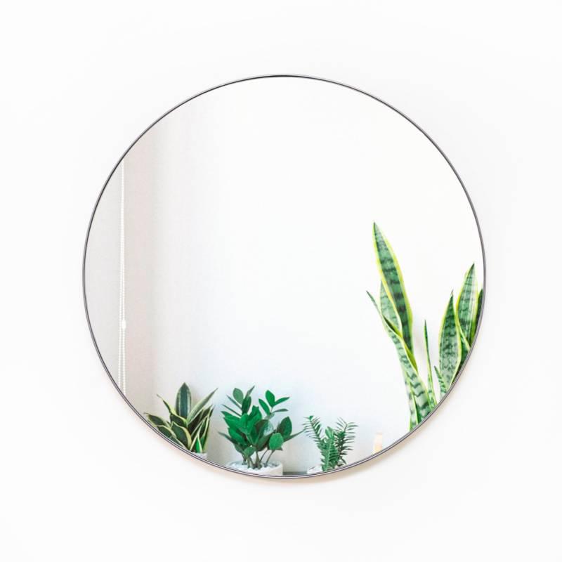 Sándalo - Espejo Redondo Platina 80 cm