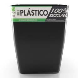 Viridis - Matera Plástico 100% Reciclado Negra 40 cm