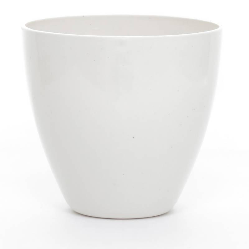 Viridis - Matera Plástico 100% Reciclado Mini 8 cm Blanca