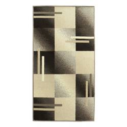 Cuperz - Tapete Shiraz Cuadros 80 x 150 cm Café