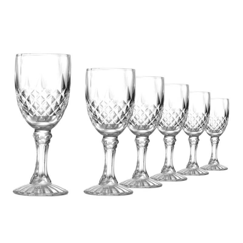 Alumar - Set 6 Copas Vino Blanco Talladas
