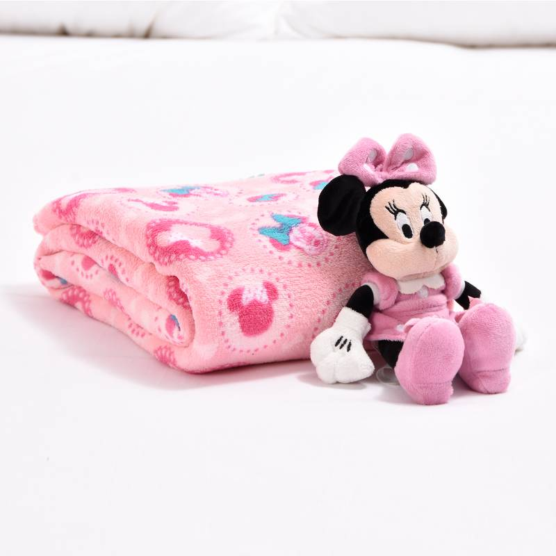 Disney - Cobija Baby Disney 90 X 110 Cm Minnie+Peluche Minnie