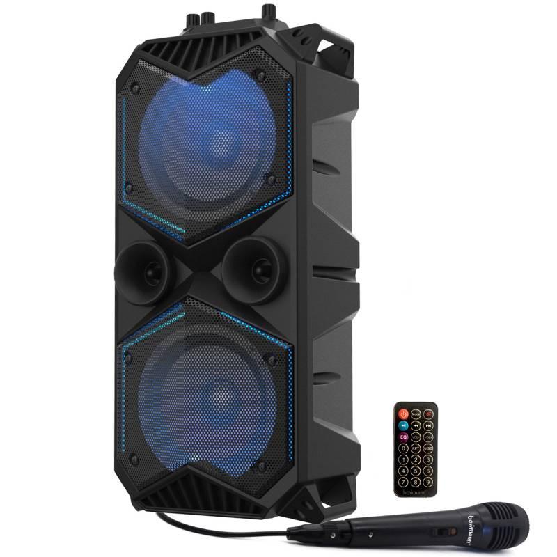 Bowmann - Parlante Bluetooth Portatil Karaoke Bafle Microfono Bowmann