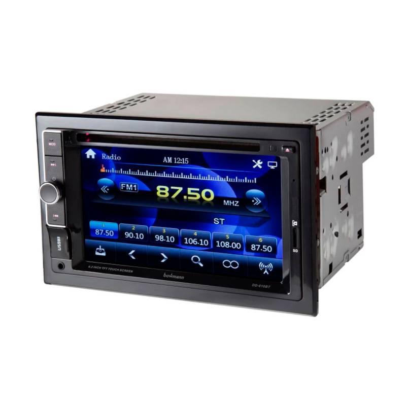 "Bowmann - Radio Carro Pantalla Táctil 6,2"" Bluetooth DVD USB"
