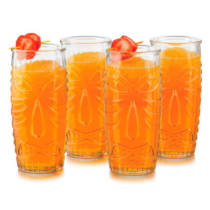 Libbey - Juego 4 Vasos Tiki Cooler 592 ml