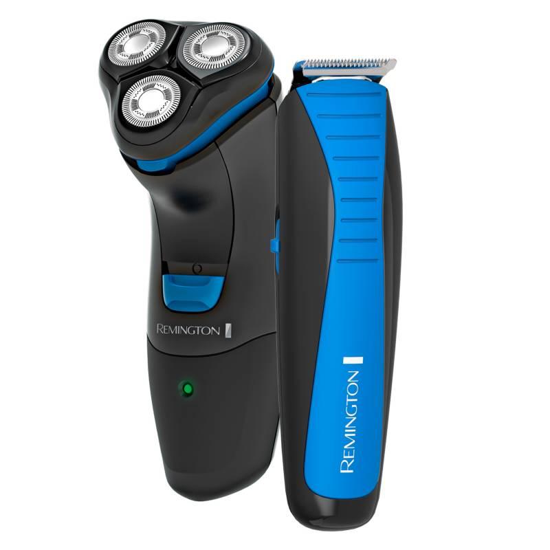 Remington - Combo Padres afeitadora rotativa + cortador de barba