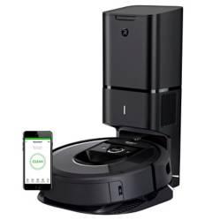 IRobot - Aspiradora robot iRobot Roomba i7+ con conexión Wi-Fi y estación de limpieza Clean Base