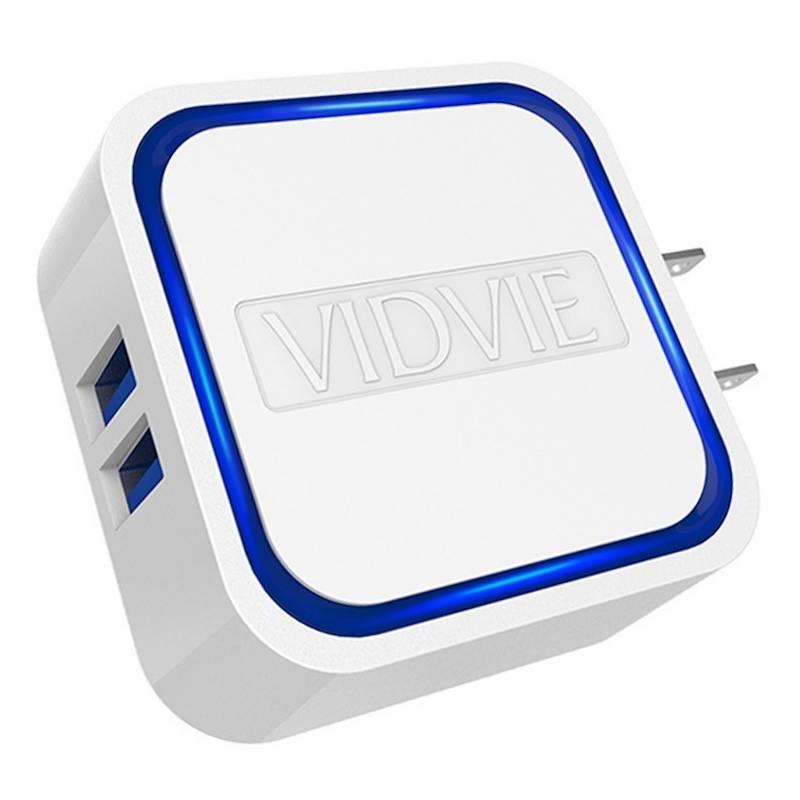 Vidvie - Cargador Pared Cubro 2 Puertos USB Android