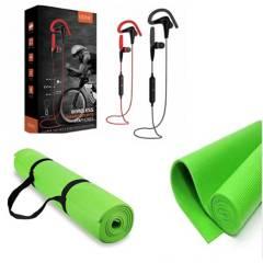 Vidvie - Audífono deportivo para ciclistas Gratis Colchoneta Yoga Negra