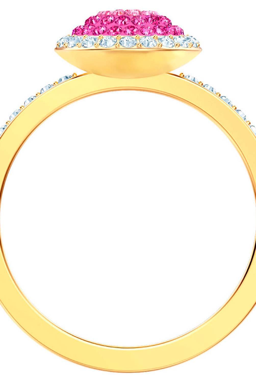 Swarovski - Anillo Swarovski  Bañado En Oro