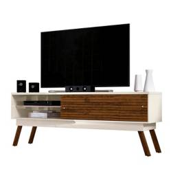 Mesa TV Frizz 1.8 Blanco Apagado Savana