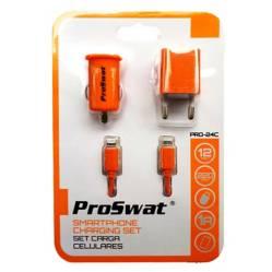 Proswat - Cargador Carro + Cargador Pared + Cable