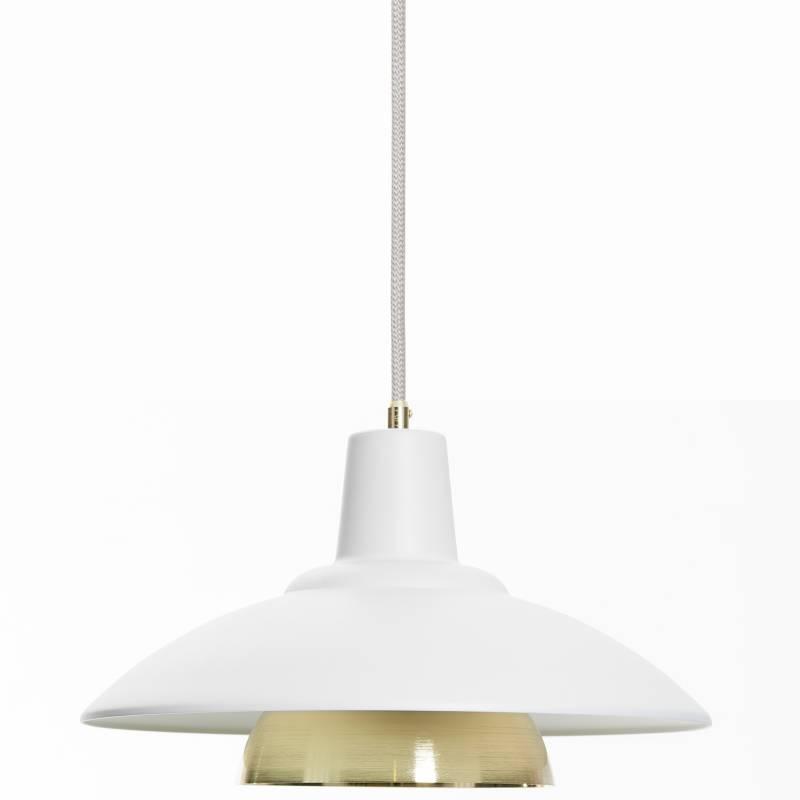 Vida útil - Lámpara de Techo Ceti 3 Blanca con Accesorio Dorado
