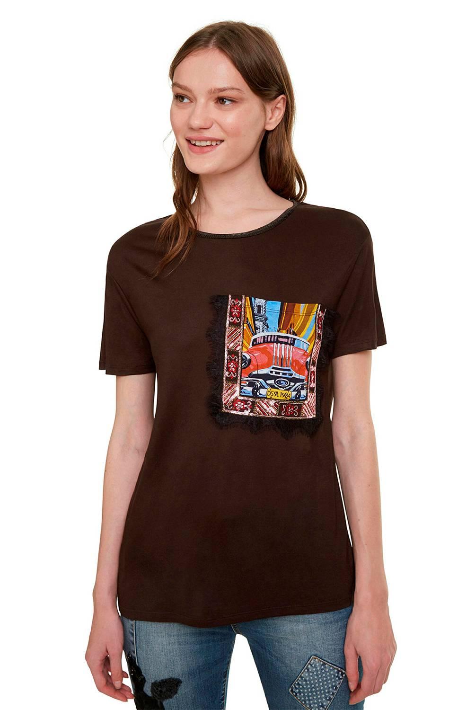 Desigual - Camiseta Mujer Manga Corta Desigual