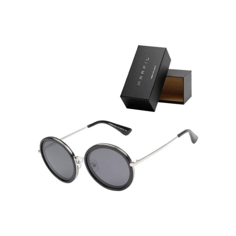 Marfil - Gafas de sol Polarizadas Negro Marfil Round