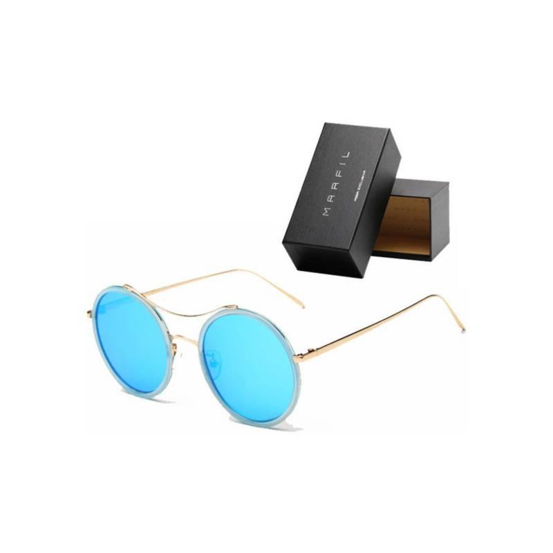 Marfil - Gafas de sol Marfil Originales Round Azul Espejo