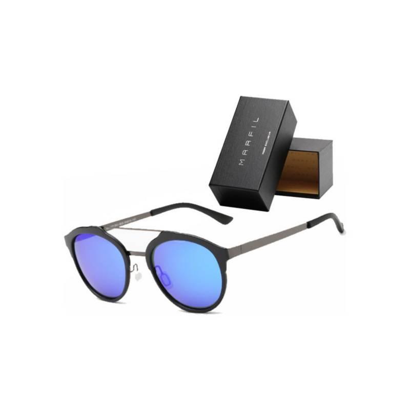 Marfil - Gafas de sol Marfil Originales Round Azul Oscuro
