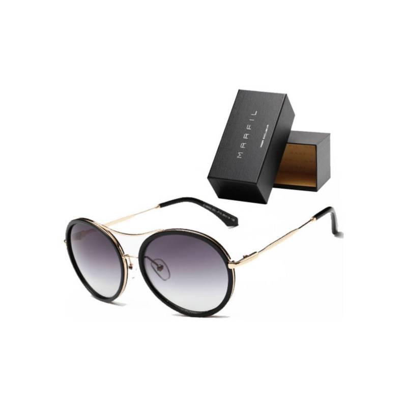 Marfil - Gafas de sol Marfil Originales Round Negro