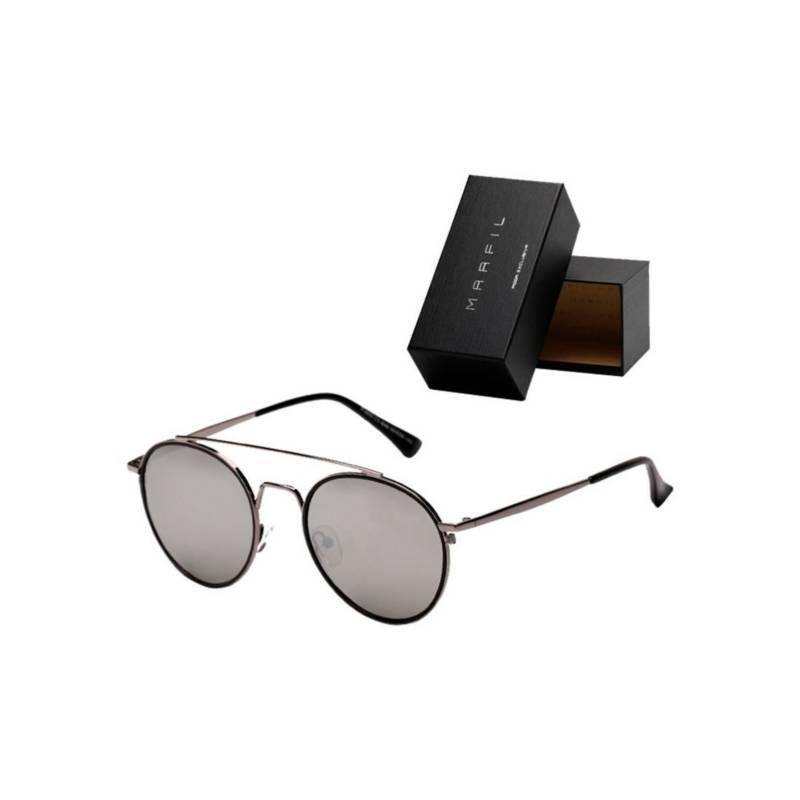 Marfil - Gafas de sol Marfil Originales Round Ame Plateado