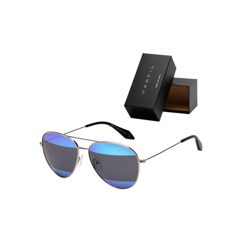 Marfil - Gafas de sol Marfil  Aviador Piloto Espejo Azul