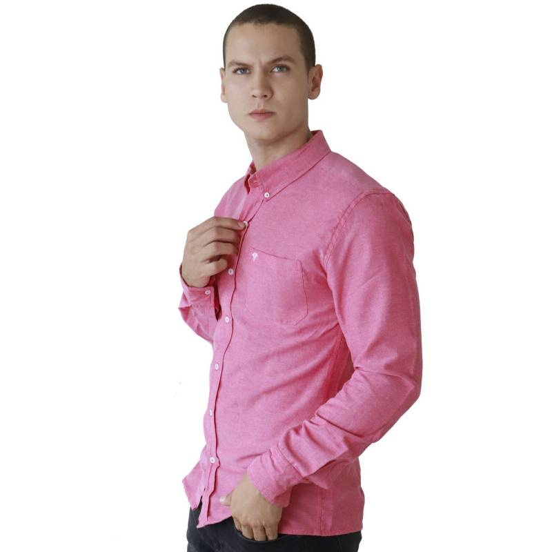 Marfil - Camisa Hombre Oxford Fucsia