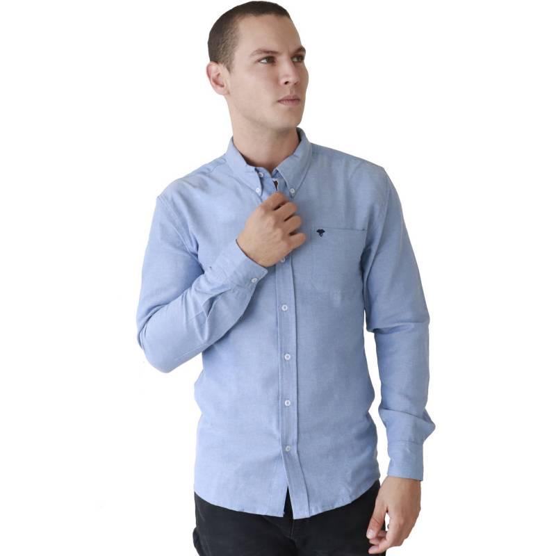 Marfil - Camisa Hombre Oxford Azul