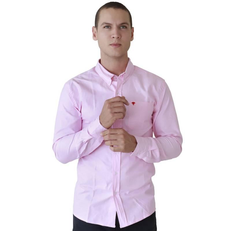 Marfil - Camisa Hombre Oxford Rosado