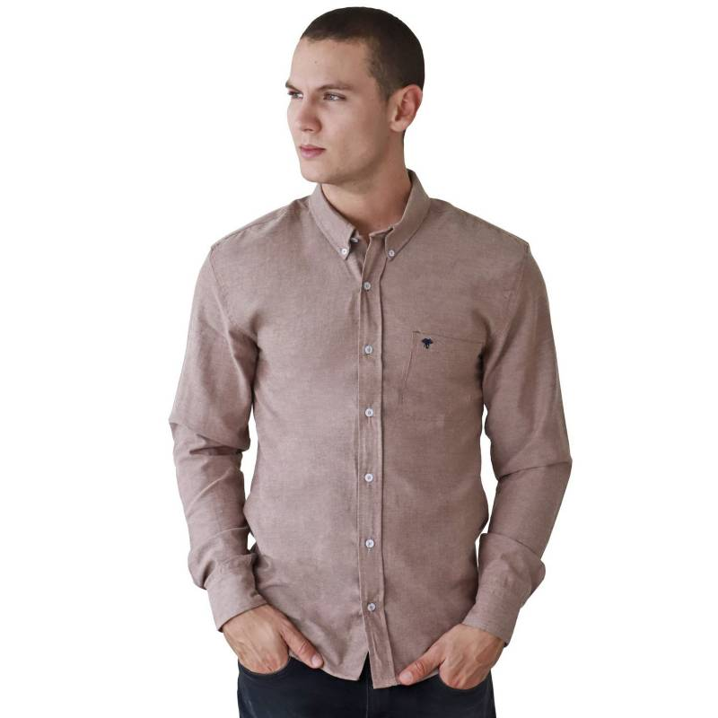 Marfil - Camisa Hombre Oxford Cafe