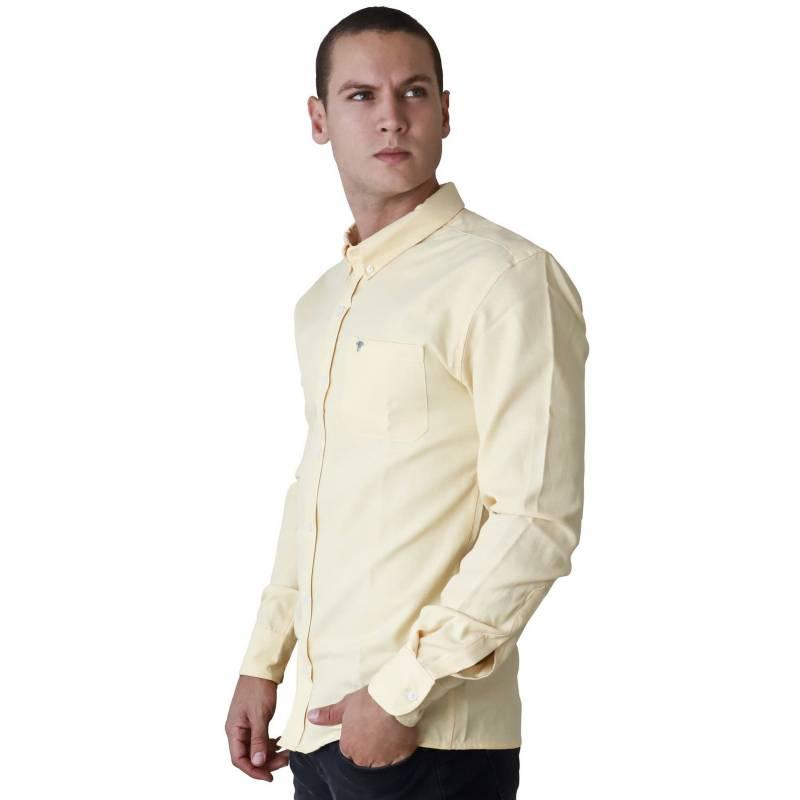 Marfil - Camisa Hombre Oxford Amarillo