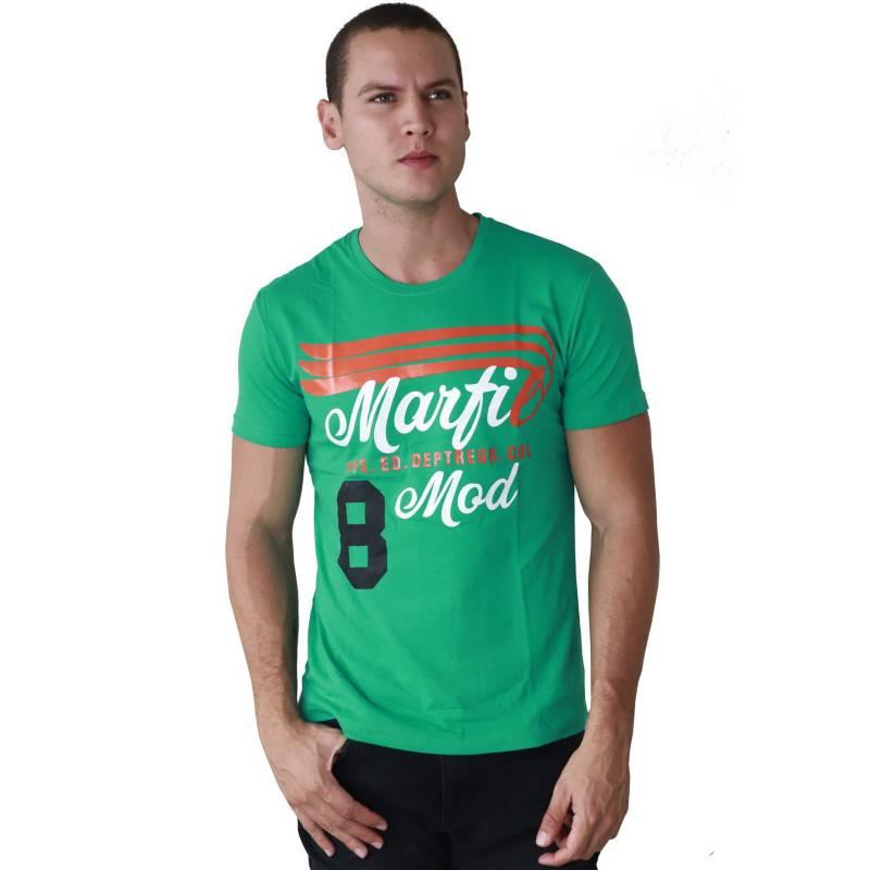 Marfil - Camiseta Hombre Slim Fit Verde