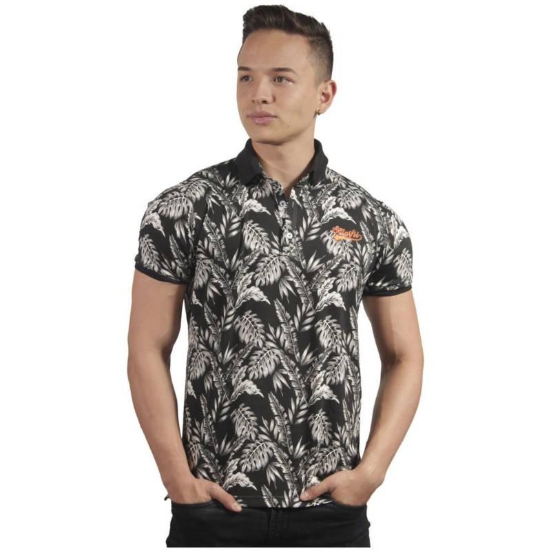 Marfil - Camiseta Polo Hombre Slim Fit Negro